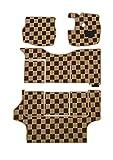 BMS(ビーエムエス) クリアチェックフロアマット ベージュ×ブラウン 【ミツビシ デリカスターワゴン Q35W S61/6~ 7人乗 】 A01-M57-120