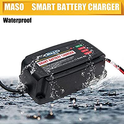 Battery Charging Units - MASO 12V 5A Car Smart Battery Charger Conditioner Lead Acid Motorcycle Boat