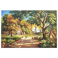 100%手はライブルームのホームインテリアのために絵画キャンバスウォールアートウォール装飾写真の自然景観アートの絵画を描い,(85X105cm)34X42inch