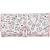 【SNOOPY】スヌーピー 財布 傘模様  レディース財布 長財布 二つ折り 財布 130014