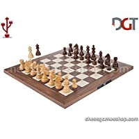 DGT USB Walnut e-Board with Timeless pieces - Electronic chess