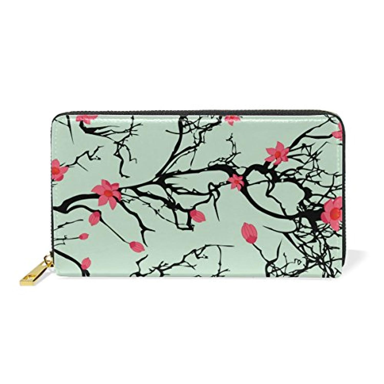 財布 レディース 長財布 大容量 かわいい 花柄 おしゃれ きれい 幾何学模様 ファスナー財布 ウォレット 薄型 本革 型押し 小銭入れ プレゼント用