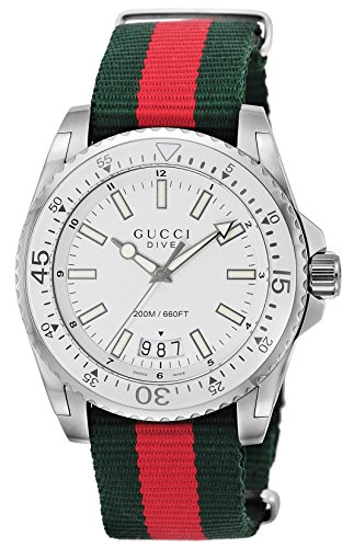 [グッチ]GUCCI 腕時計 DIVE ホワイト文字盤 300...