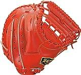 ZETT(ゼット) 硬式野球 キャッチャーミット プロステイタス 右投げ用 横型 ポケットやや深め オレンジ(5600) 日本製 専用グラブ袋付き BPROCM520