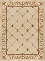 Orleans Traditional Border Ivory Rectangle Area Rug 10.6' x 14.6' [並行輸入品]