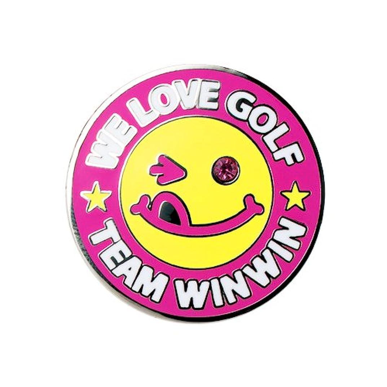飾る制約四分円WINWIN STYLE(ウィンウィンスタイル) WE LOVE GOLF MEGA MARKER グリーンマーカー カラー PK MM-210