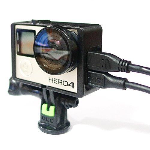 OCC The Frame ネイキッドフレーム for GoPro Hero 4 + 強化 トライポッドマウント + UVレンズ