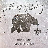 メリークリスマス/明けましておめでとう - 手作りオープンクリスマスカード/ VV6