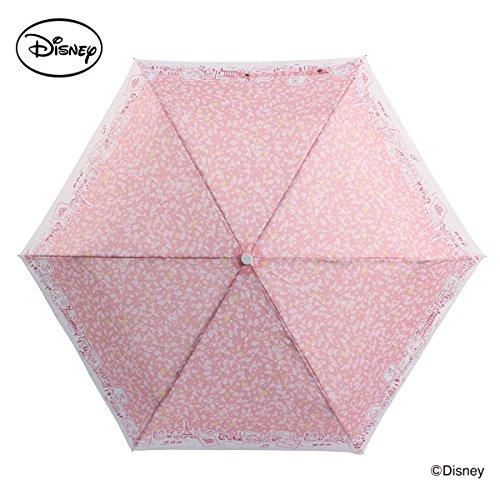 【Disney】キャラクター アンブレラ レディース 折りたたみ傘 55cm (マリー/パリでお散歩)
