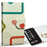スマコレ ploom TECH プルームテック 専用 レザーケース 手帳型 タバコ ケース カバー 合皮 ケース カバー 収納 プルームケース デザイン 革 ラブリー ハート カラフル 模様 004262