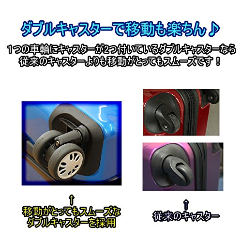 (グラディス・トラベル)GladysTravel スーツケース ABS+PC 4輪Wキャスター 8410-46 Sサイズ アイスグリーン