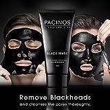 Pacinos ブラックヘッドリムーバーディープクレンジングピールオフブラックマスク活性炭引裂炭仮面劇、1.76オズ。