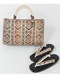 新品 草履バッグセット フリーサイズ (4) 西陣 小池織物 正絹帯地使用 草履 バッグ