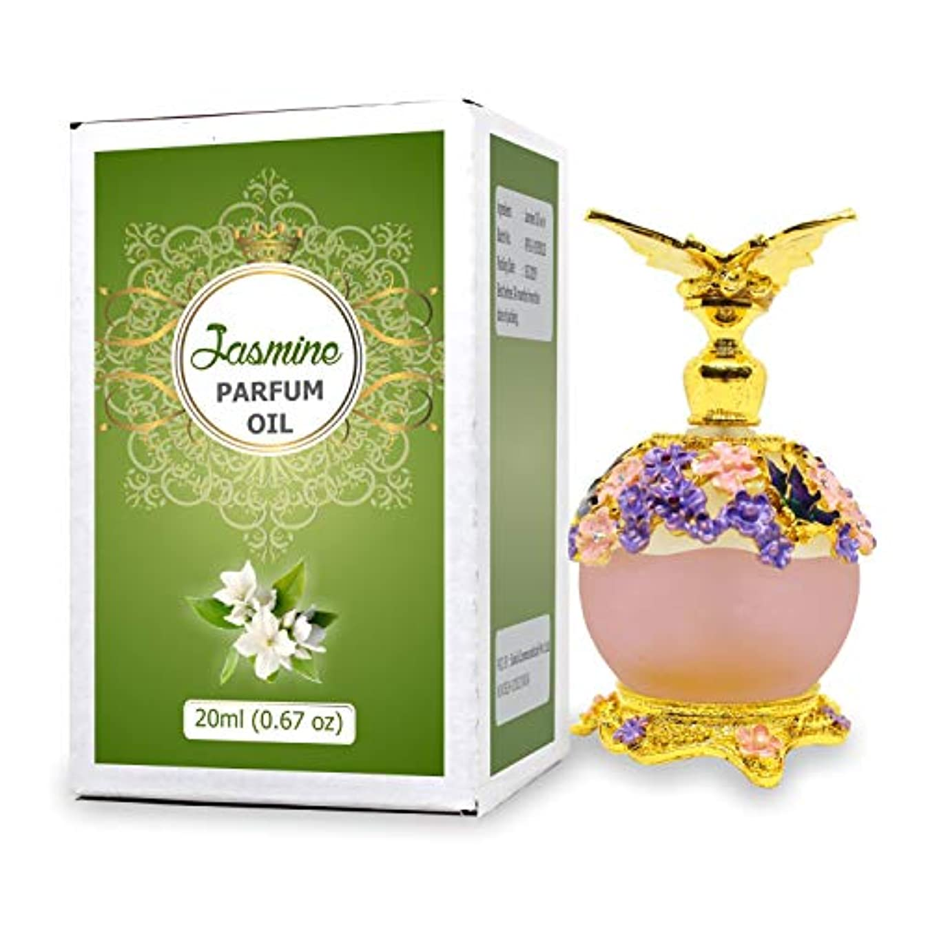 研磨剤共和党ミニJasmine Parfum Oil - Alcohol Free Perfume Oil - Long Lasting Jasmine Fragrance For Women - 20 ML