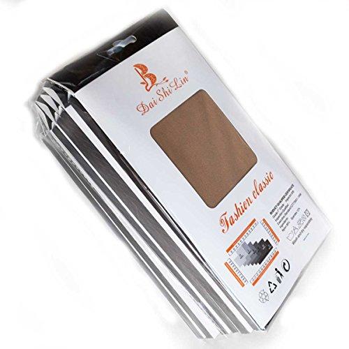 ( まとめ買い ・ 卸売り 6枚セット ) 露出対策 厚手 200 デニール タイツ (838) 肌色