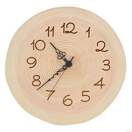 ツインハーツ『木製 電波時計 桧(ひのき)年輪 』
