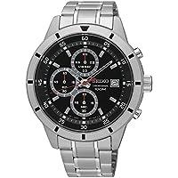 Seiko セイコー クロノグラフ ブラックダイヤル メンズ腕時計 SKS561 並行輸入品