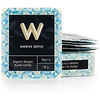 有機インスタント バターコーヒー90g(15g✖6回分)【EUオーガニック認証】お湯に混ぜるだけ!完全無欠コーヒーに! (バニラ)オフィスや旅先で!