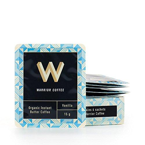有機インスタント バターコーヒー90g 15g✖6回分 お湯に混ぜるだけ完全無欠コーヒーに バニラ オフィスや旅先で