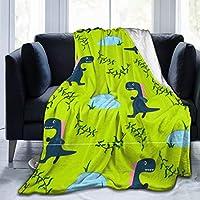 ひざ掛け 毛布 ブランケット 幸せな 漫画 恐竜 爬虫類 大判 ふわふわ 厚手 シングル 暖かい 柔らかい 膝掛け 携帯用 車用 オフィス用 防寒対策 冷房対策 お昼寝 通年用 洗える