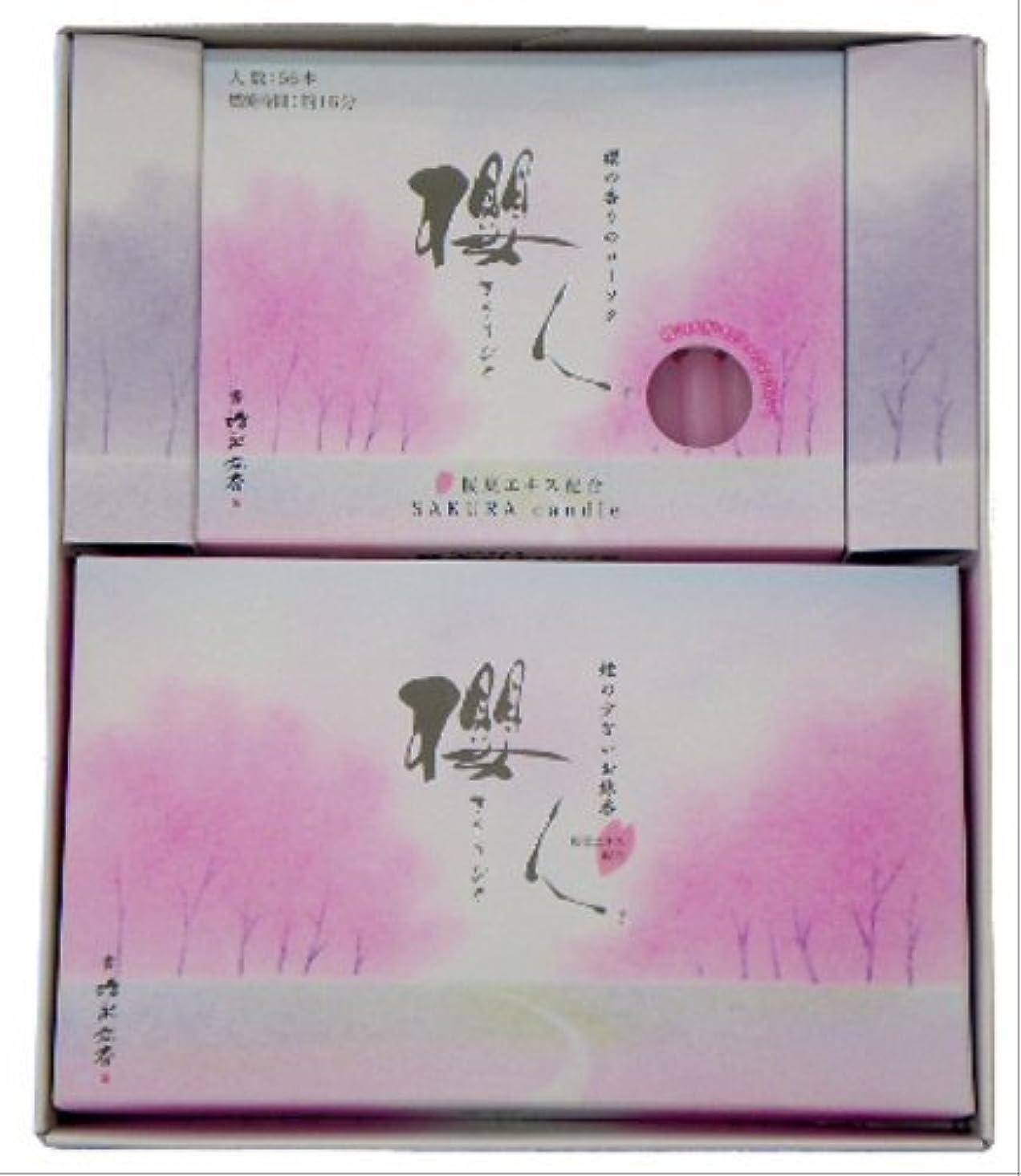 マインドフルただ面キャンドル&お線香 櫻人 詰合 (大)