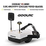 GoolRC VR HD01 5.8G 40CH デュオアンテナFPVゴーグルビデオメガネ QAV250 FPVレーシングドローンH501S Inductrix QX95 NH-010クアドコプター 用
