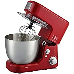 Electric Stand Mixer Blender by Healthy Choice   5l Capacity   1000 Watt   Egg Mixing, Spatula,   10 Speed   Red Colour