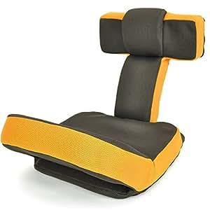 座椅子 ゲームチェア ハイバック マルチリクライニング ゲーム座椅子 「ソリッド」 ( ヘッドギア フットギア ) 蒸れにくい メッシュ素材 ダークブラウ...