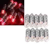 Vktech 10個Mini ShiningバルーンライトLED電球with Tail forパーティーレッドライト