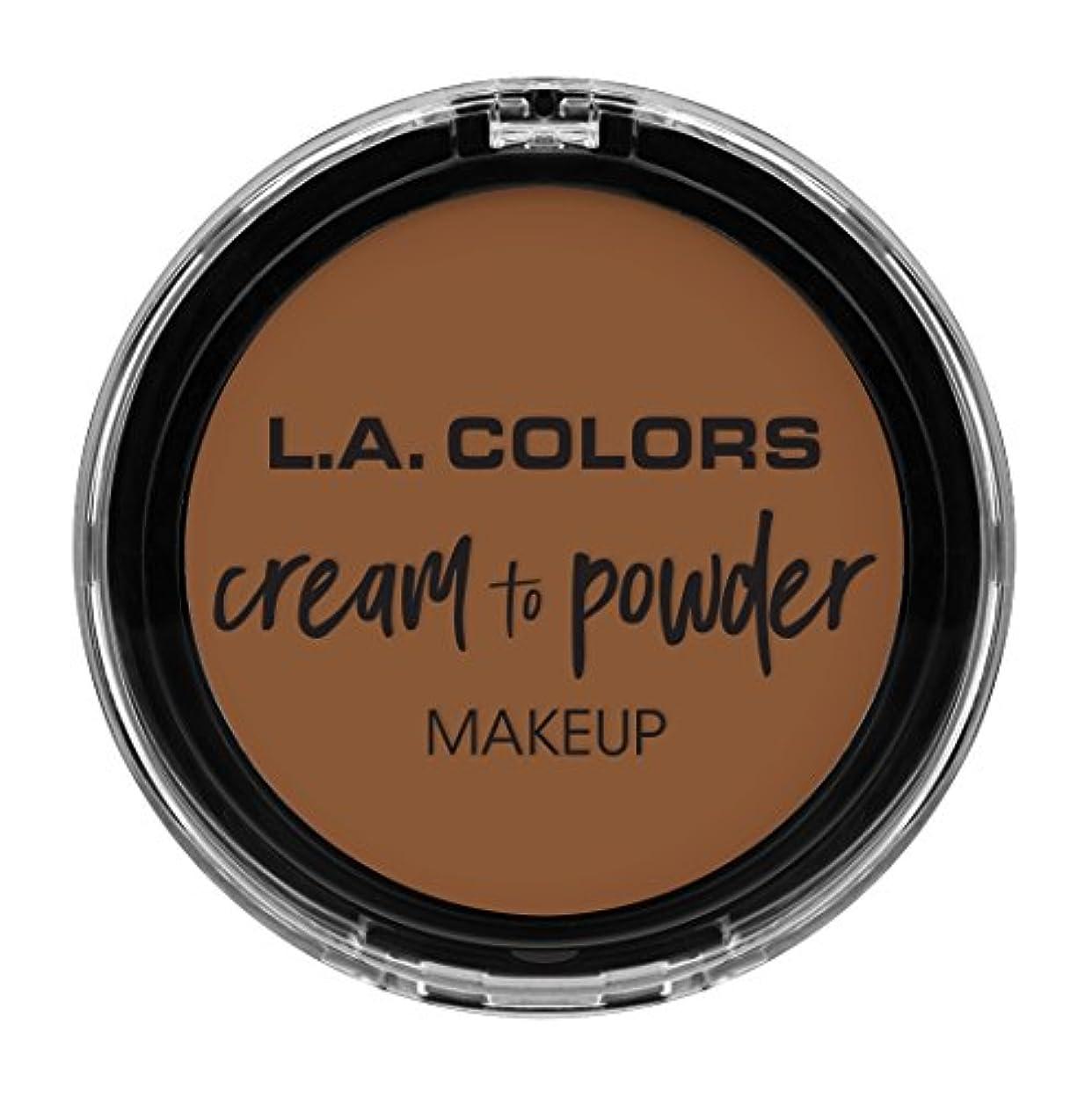 堀観光に行くいらいらするL.A. COLORS Cream To Powder Foundation - Tan (並行輸入品)