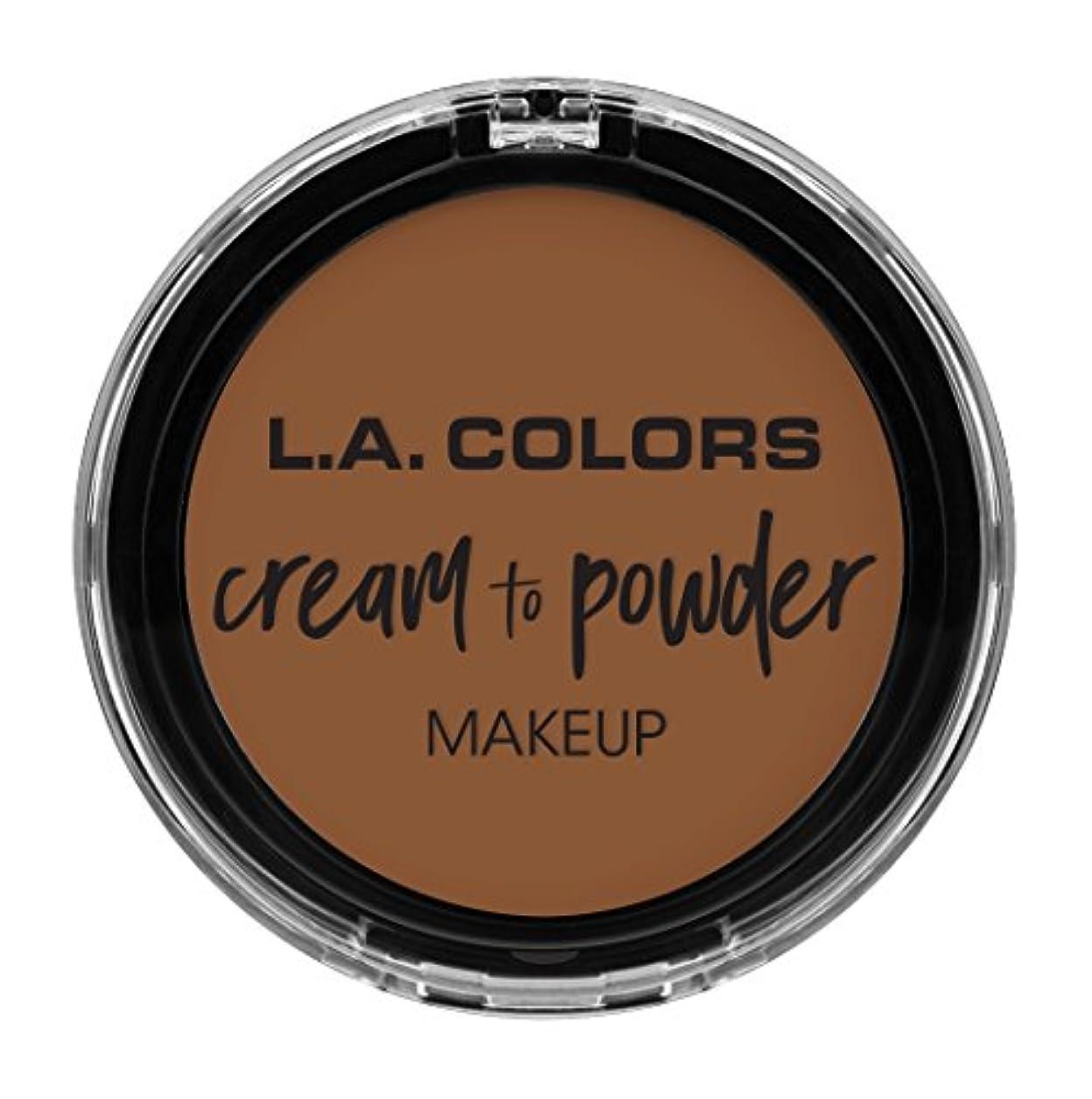真珠のようなきちんとした滅びるL.A. COLORS Cream To Powder Foundation - Tan (並行輸入品)