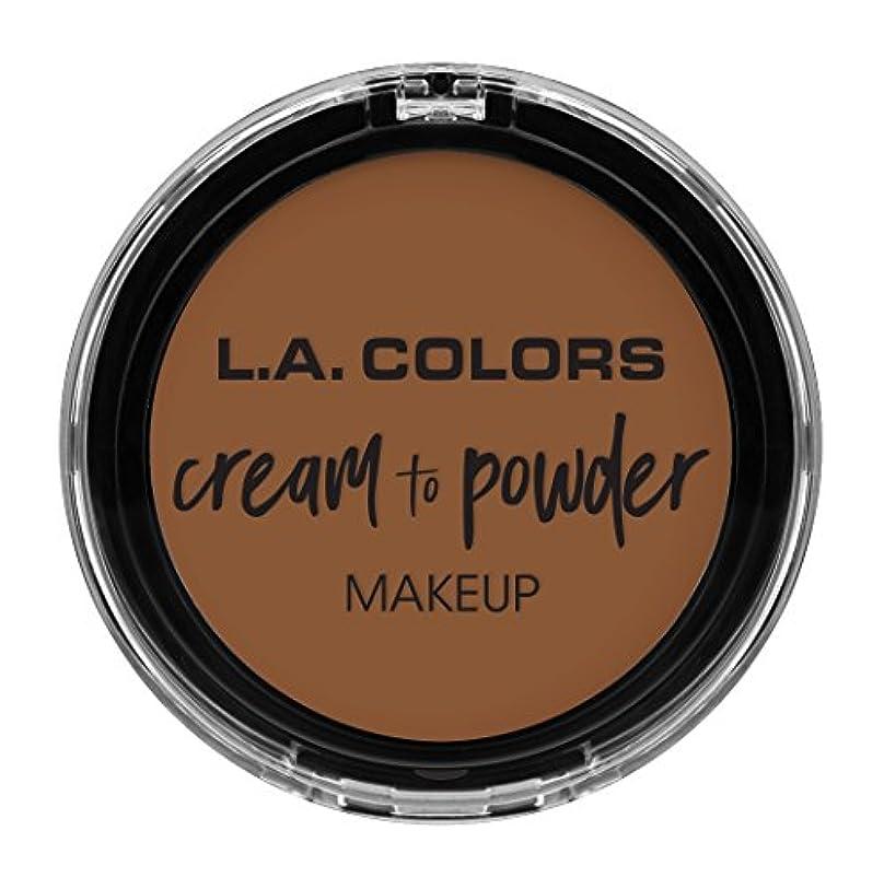 流用する生息地ほうきL.A. COLORS Cream To Powder Foundation - Tan (並行輸入品)
