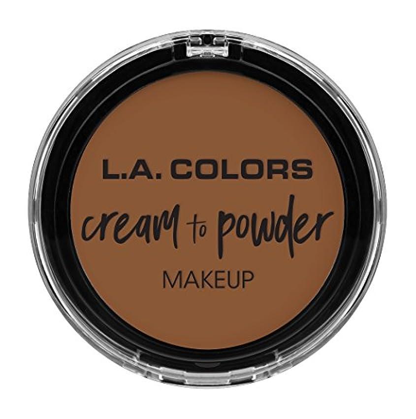 死んでいる批判アラバマL.A. COLORS Cream To Powder Foundation - Tan (並行輸入品)