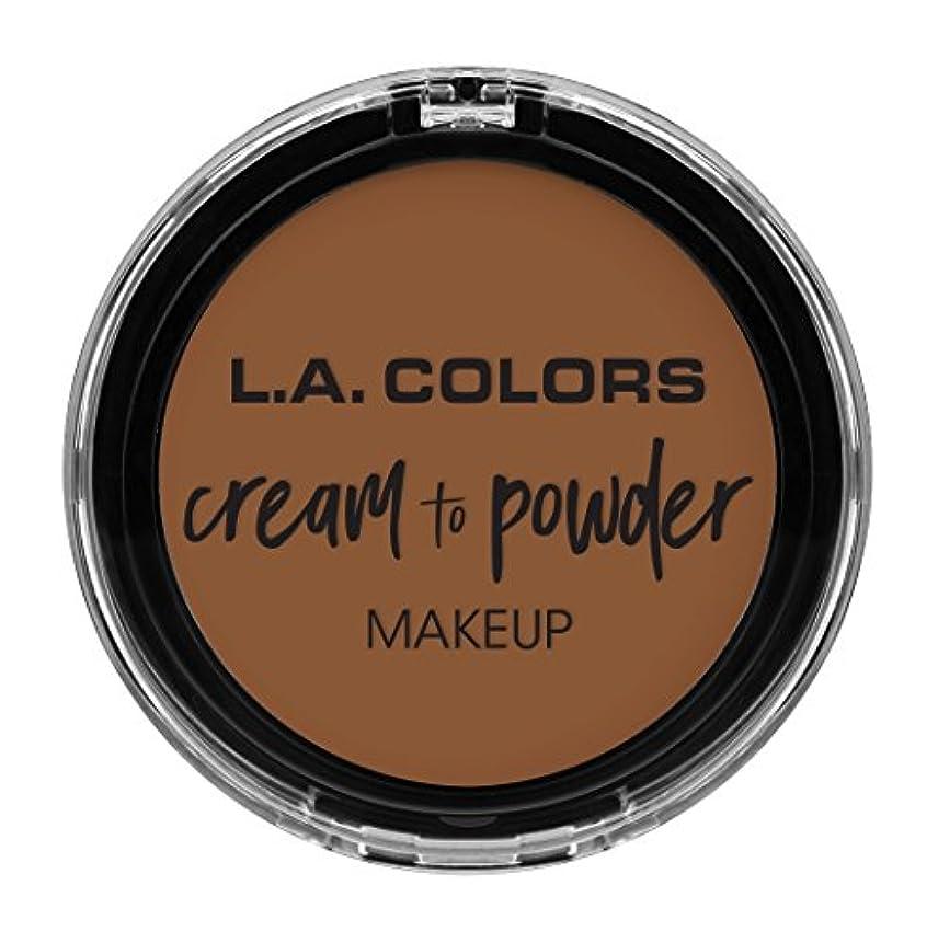 調べるお気に入り派生するL.A. COLORS Cream To Powder Foundation - Tan (並行輸入品)