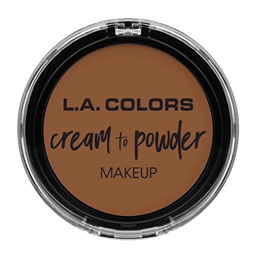 盗賊争う引き付けるL.A. COLORS Cream To Powder Foundation - Tan (並行輸入品)