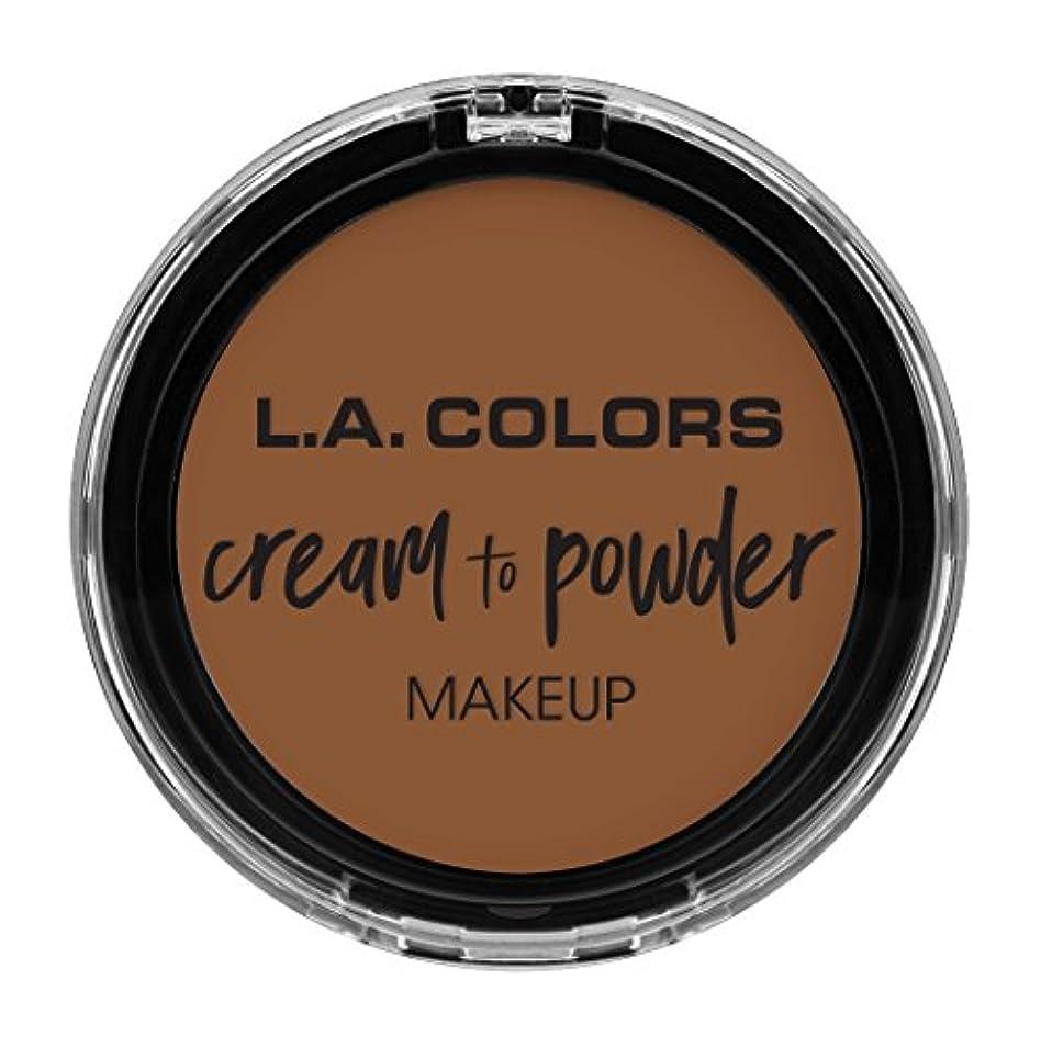 シーズン型等L.A. COLORS Cream To Powder Foundation - Tan (並行輸入品)