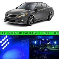 FidgetGear Honda Accord 2003-2012 PQのための8個10K青色LEDライトインテリアパッケージキット