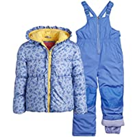 Wippette Little Girls' 2-Piece Heavyweight Snowsuit with Puffer Jacket and Snow Bib Pants (Infants, Toddler & Little Girls)