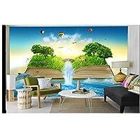"""カスタム3D写真の壁紙リビングルーム壁画本滝森林海写真キッズルームの背景壁紙wall-300cm(W)x 200cm(H)(9'10""""x 6'7"""")"""