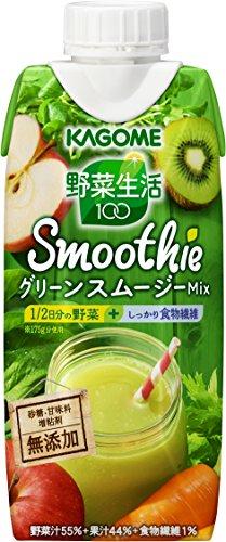 カゴメ 野菜生活100 Smoothie グリーンスムージーMix 330m...