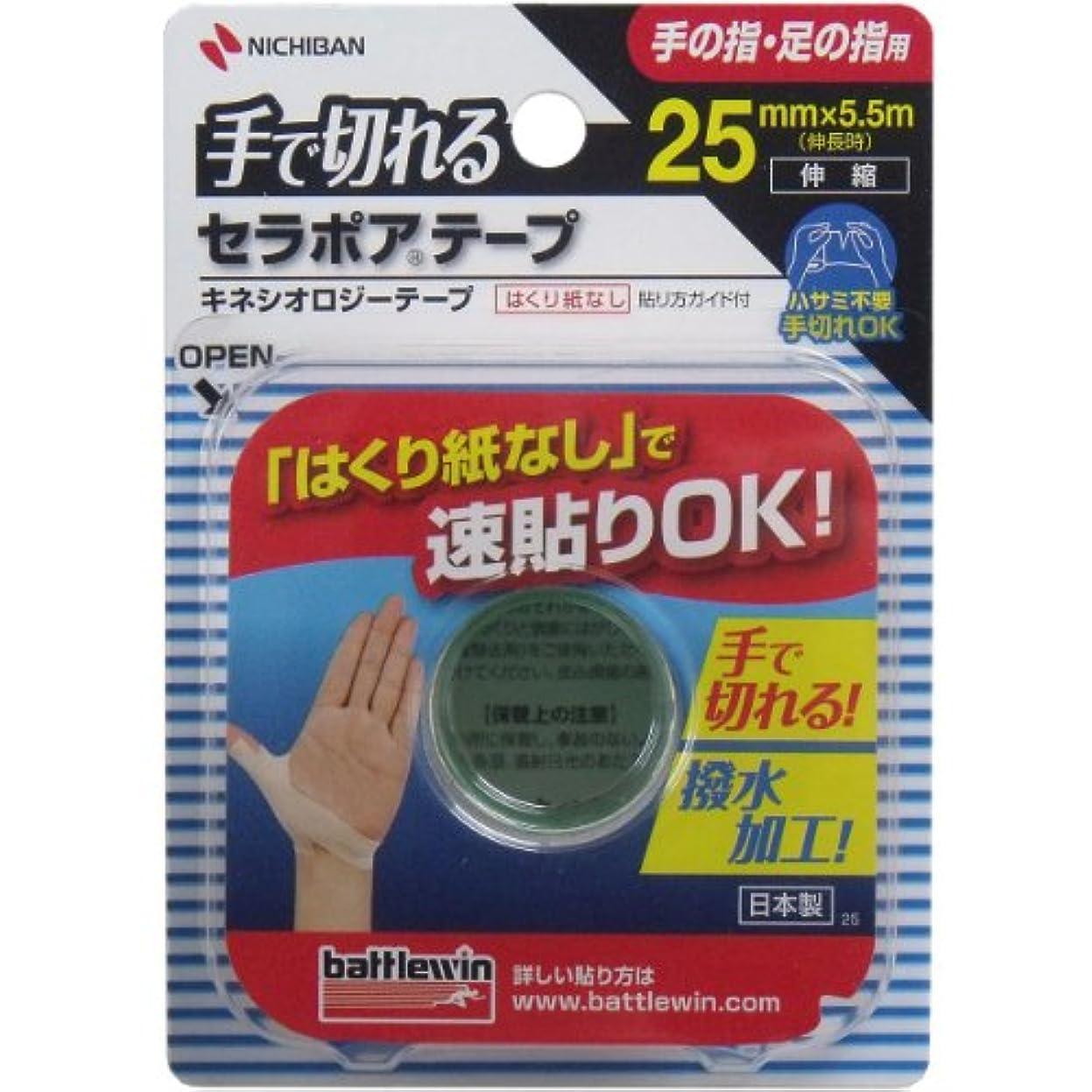 水没小康酸っぱいバトルウィン 手で切れるセラポアテープ 25mmX5.5m SEFX25F×2個セット