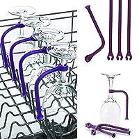 gessppo 4点/セットシリコンワイングラスホルダー調整食洗機対応脚付きグラスホルダー
