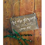 Baby Reveal Wood Sign Baby Announcement Pregnancy Announcement Our Family is Growing Growing Family Family Number Family Name