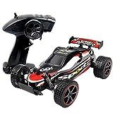 Smija ラジコンカー 車おもちゃ 2.4Ghz 2WD オフロード車 防水 RCカー レッド