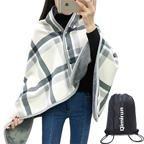 ひざ掛け ひざかけ 膝掛け ブランケット大判 80×135cm レディース ふんわり 洗 濯可 着る毛布 寒さ対策