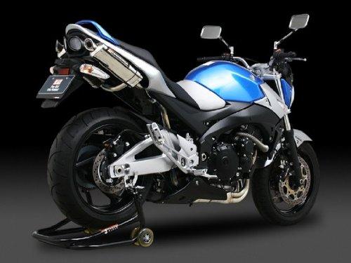 ヨシムラ(YOSHIMURA) バイクマフラー スリップオン トライオーバル サイクロン EXPORT SPEC 政府認証 2本出し SS ステンレスカバー/カーボンエンド GSR400(06-10) 110-156-5450 バイク オートバイ