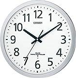 CITIZEN ( シチズン ) 電波 掛け時計 スペイシーM462 オフィス タイプ 見やすい フォント シルバー 8MY462-019