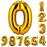 誕生日 数字 バルーン 風船 ナンバー 90cm 風船 数字バルーン ゴム風船 誕生日 パーティー飾りに  (数字0)