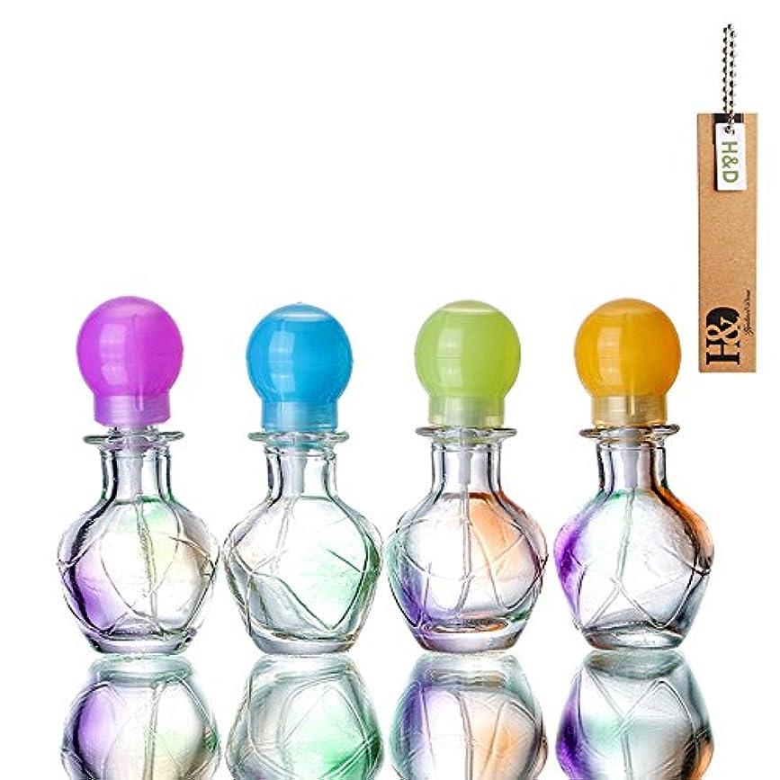 平凡致死首H&D 4個セット香水瓶 詰替用瓶 空きアトマイザー香水瓶旅行用品 化粧水用瓶 装飾雑貨 ガラス製 (クリア)