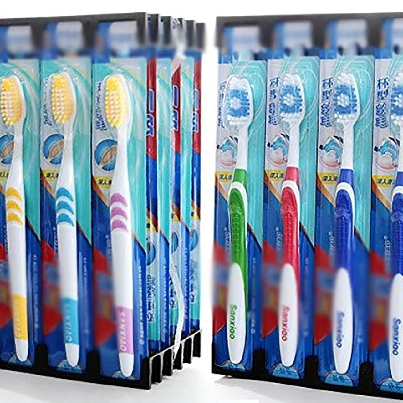 感動する通行料金無心歯ブラシ 30本の歯ブラシ、旅行柔らかい歯ブラシ、歯ブラシのバルク極細歯ブラシ - 使用可能なスタイルの3種類 KHL (色 : C, サイズ : 30 packs)